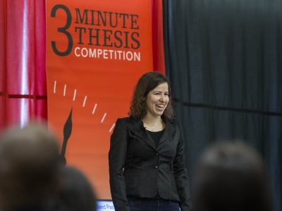 Photo for the news post: Help CU Grad Student Win 3MT People's Choice Award
