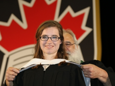 Photo for the news post: Patience Pays Off For Graduating Student