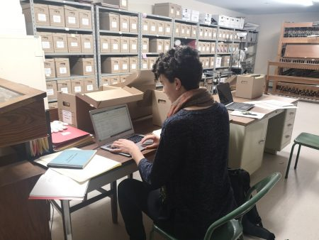Kate Jordan in the archives